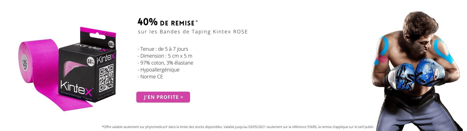 Offre bande de taping kintex rose